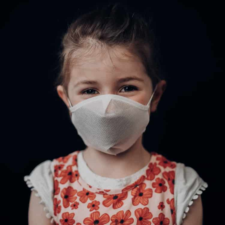 Atemmaske - Daily Mask 4-K1 mit Einfass inklusive Filter - Kinder 5-8 Jahre (wiederverwendbar / waschbar)