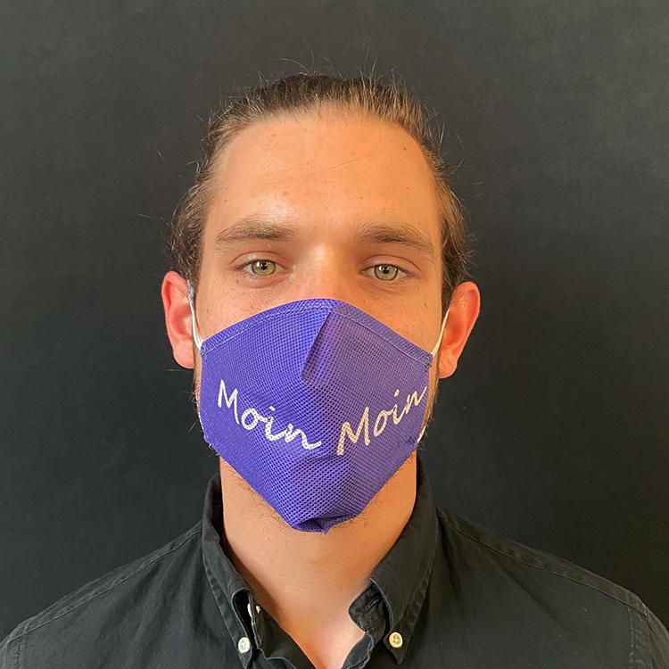 """Atemmaske - Daily Mask 2 mit Einfass - Design """"Moin Moin"""" (wiederverwendbar / waschbar)"""