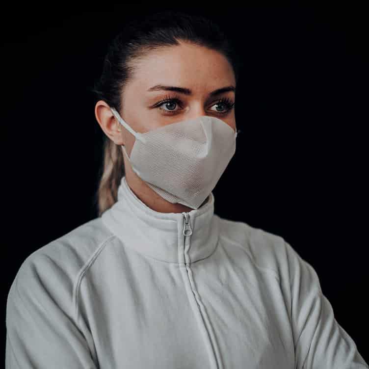 Atemmaske - Daily Mask 1 ohne Einfass, Standardgröße, bevorzugt für Herren (wiederverwendbar / waschbar)