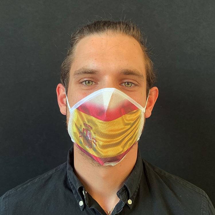 Atemmaske - Daily Mask 2 mit Einfass - Design Spanien (wiederverwendbar / waschbar)