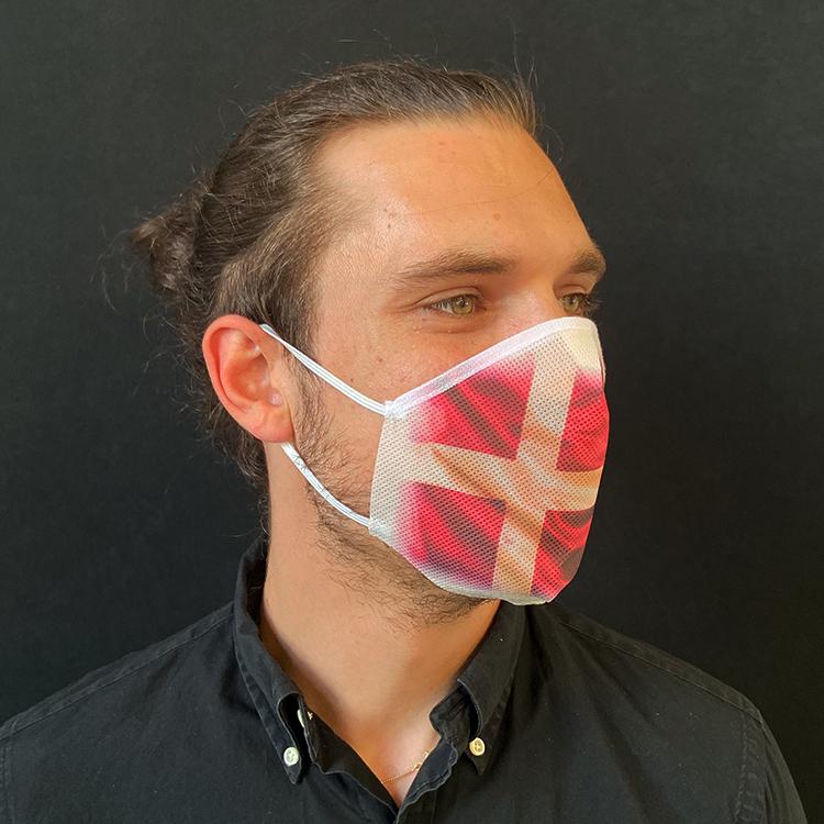 Atemmaske - Daily Mask 2 mit Einfass - Design Dänemark (wiederverwendbar / waschbar)