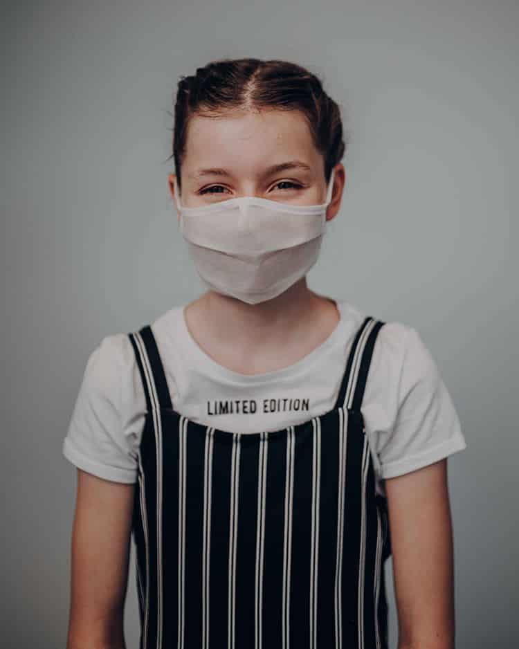 Atemmaske - Standardmaske FP1-K2 einlagig - Kinder 9-12 Jahre (wiederverwendbar / waschbar)