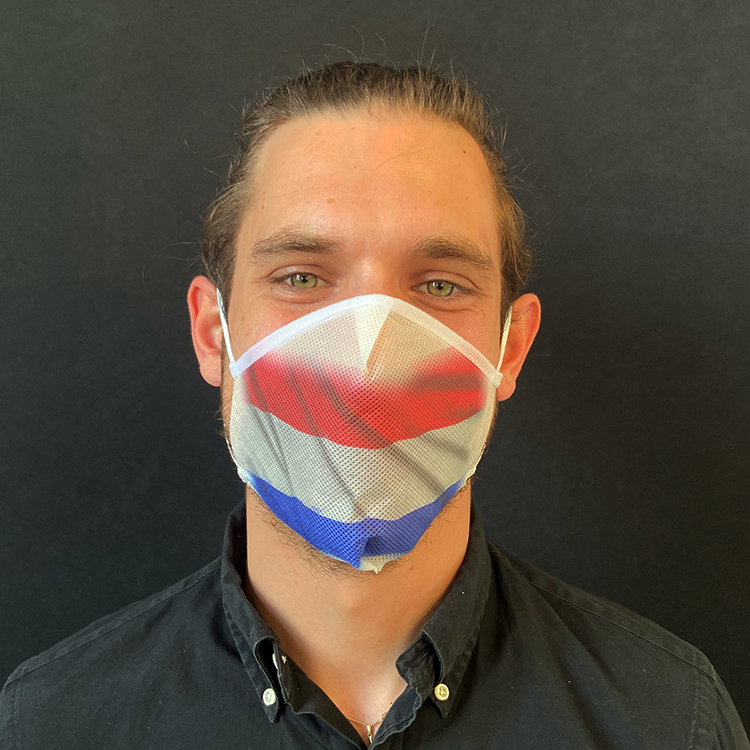 Atemmaske - Daily Mask 2 mit Einfass - Design Niederlande / Holland (wiederverwendbar / waschbar)