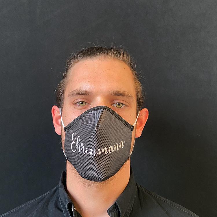 Atemmaske - Daily Mask 2 mit Einfass - Design Ehrenmann (wiederverwendbar / waschbar)