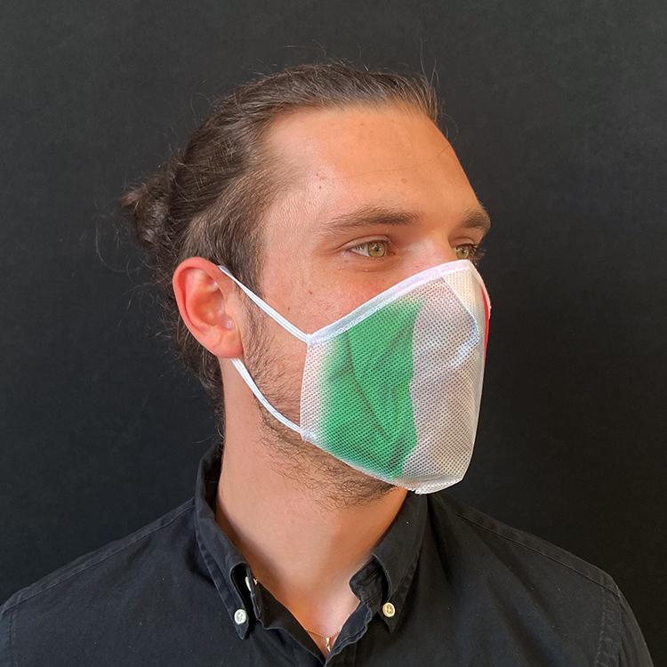 Atemmaske - Daily Mask 2 mit Einfass - Design Italien (wiederverwendbar / waschbar)