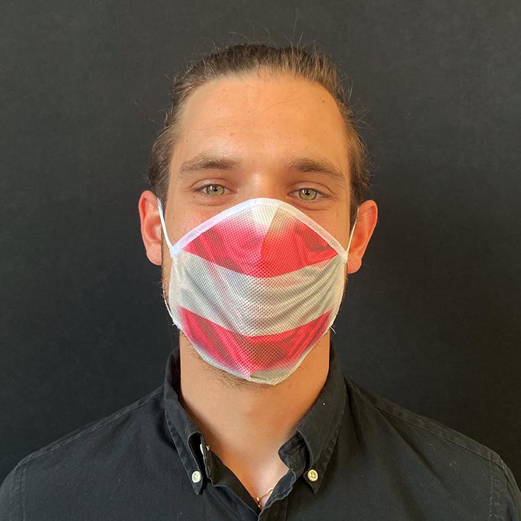 Atemmaske - Daily Mask 2 mit Einfass - Design Österreich (wiederverwendbar / waschbar)