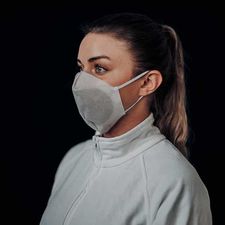 Atemmaske - Daily Mask 3 ohne Einfass inklusive Filter, Standardgröße, bevorzugt für Herren (wiederverwendbar / waschbar)