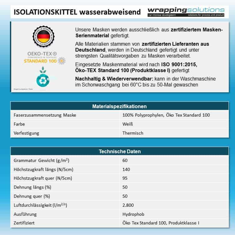 Isolationskittel IK-WA1 wasserabweisend