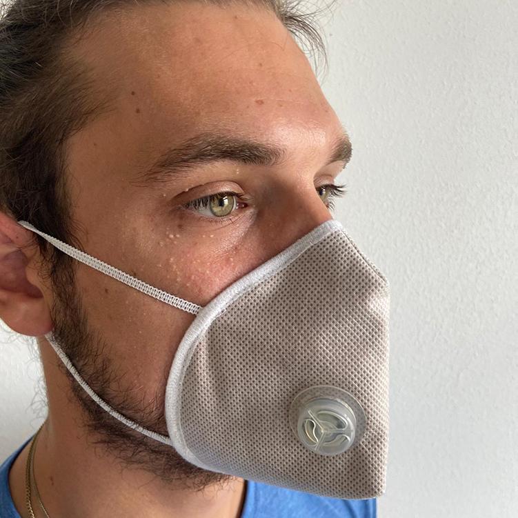 Atemmaske - Guard Mask 2 mit Ventil, Standardgröße, bevorzugt für Herren (wiederverwendbar / waschbar)