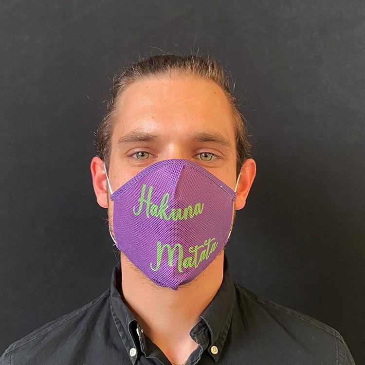 """Atemmaske - Daily Mask 2 mit Einfass - Design """"Hakuna Matata"""" (wiederverwendbar / waschbar)"""