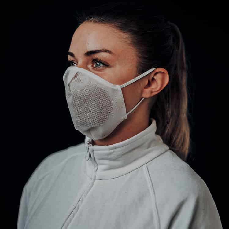 Atemmaske - Daily Mask 4-K1 mit Einfass inklusive Filter - Kleine Kopfgröße (wiederverwendbar / waschbar)